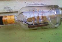 şişede gemi