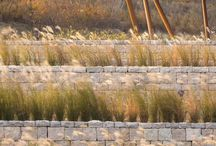 garden \\ feature \\ retaining walls