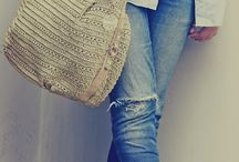 Casual for hijab / casual with rip denim jeans + stripe shirt