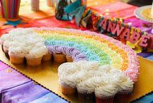pastel de arcoiris