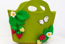 Purses and Handbags / Handmade purses and handbags made from 100% wool felt from Babes in the Woods