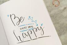 My Brush Lettering / Depuis quelques semaines j'apprends le hand/brush lettering :)