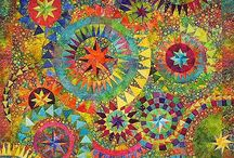 Quilts / My mother was a quilter, and I have a fascination for and love of quilt patterns and the intricate detail of hand quilting/stitching.
