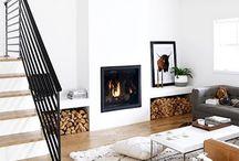 Scandinavian style fireplaces