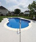 "Rio Model by San Juan Fiberglass pools / Rio  Width 15' 10"" / 4.82M Length 28' 4"" / 8.63M Depth 5' 7"" / 1.70M Area 324ft2 / 30.1M2 Volume 10,000G / 37,900L  www.sanjuanpools.com"