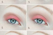 Ojos en color coral