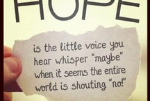 Journaling - Hope / Inspirational quotes and art about hope / by Janneke Maat