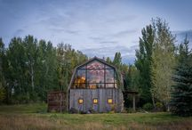 The Barn / Audrey Hall Photography, Mountain Modern, Architecture, Fitness, Guest Barn, Kitchenette, Garage, Vintage Cars, Barn wood