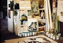 artists and their studios / Art spaces, artists, and other inspirational things. / by Jennifer Allen