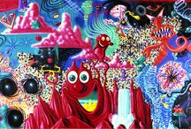 Colour theory: Kenny Scharf / Artist model