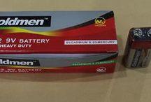 Baterai 9 Volt / Baterai kotak Merk Goldmen
