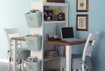 Tips & Tricks- Desks & Organization / since i live in a small studio, i'm always looking for ways to get more organized to keep my small space open and clean  / by Gabrielle Valedón