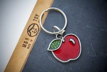 Keyrings / Handcrafted pewter keyrings.  Made in the USA