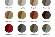Fabric Swatches / Available fabric colors