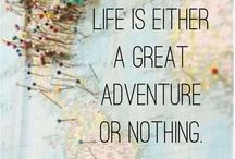 TRAVEL - Wanderlust quotes / Wanderlust & aspirational quotes about travel, adventure and reckless abandon...
