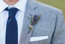 Bouquets and Boutonnière ala lavender