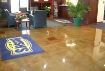 INNOTECH Chemical Stains / #IntermountainConcreteSpecialties supplies the most innovative decorative concrete products. #INNOTECH Chemical Stains infuse color into the concrete surface while showcasing characteristics of the substrate for a rich, variegated finish with a timeworn patina.