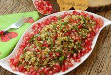 Yemekler salatalar