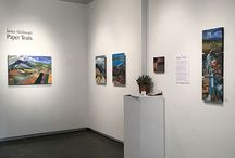 Paper Trails, virtual exhibition / New composed landscape collages and botanical-inspired collages from show at Spark Gallery, September 24 through October 18, 2015.