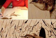 Удивительная пирография от Джули Бендер.