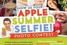 Apple Summer Selfies / Show us your #AppleSummerSelfie! Post a picture on our Facebook wall of you enjoying summer with an apple (or apple product or fave apple recipe!) for a chance to win fun summer prizes each week until August 15.