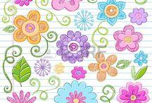 colores y dibujo
