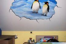 Muurschilderingen kinderkamers van eigen ontwerp / Muurschilderingen voor baby- en kinderkamers van eigen ontwerp