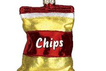 Junk Food Ornaments / Collection of fast food style ornaments for the junk food addict in all of us.