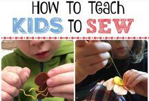 Teaching kids to sew