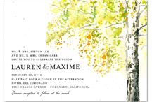 Fall Wedding Invitations / Fall Wedding Invitations, celebrate your wedding in the month of falling leaves with ForeverFiances, exclusive designs, printed on plantable papers, embedded with wildflowers seeds, using gorgeous colors, recycled paper invitations, 100% recycled green cards.