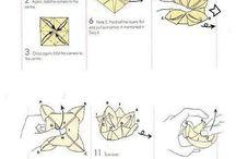 Napkin folding table deco