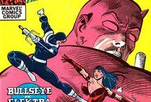 Classic Daredevil comic covers