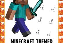 minecraft / http://www.coloringsquared.com/printable-coloring-sheets/minecraft/minecraft-math/minecraft-addition-subtraction/  http://www.coloringsquared.com/worksheet/minecraft-subtraction-mural/