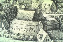 The Globe Theatre / The Globe Theatre was built in Southwark, London in 1599 by Shakespeare's playing company, the Lord Chamberlain's Men, and destroyed by fire on 29 June 1613. A second Globe Theatre was built on the same site by June 1614 and closed in 1642. / by NoSweatShakespeare