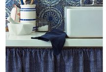 Blue and white Interiors / Interiors with blue and white