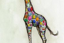 girafe couleur