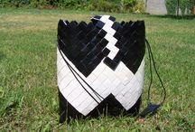 recyklovanie / papierové pletenie