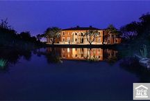 Exterior Lighting / Well lit exteriors of luxury homes in Orange County, California.
