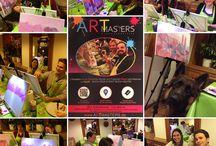 Event Eindrücke / In jedem schlummert ein kleiner Künstler... Bei ARTMASTERS dreht sich alles um das Thema Kunst, Kreativität, Leute kennenlernen, Entspannen und Spaß...
