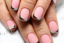 Matte Nails French Tip
