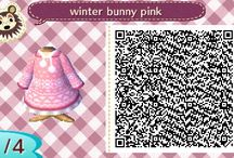 Acnl Winter QR clothes