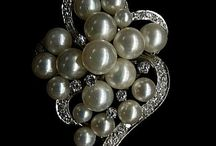 Pearl Diamond Brooches