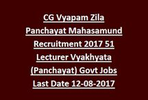 CGPEB Chattisgarh Panchayat Lecturer Vacancy / - Chattisgarh Professional Examination Board has issued notice for the enrollment of 2997 Posts of Lecturer (Panchayat). CGPEB Chattisgarh Panchayat Lecturer Vacancy 2017 – 2997 Posts through Chhattisgarh Professional Examination Board (CGPEB).