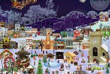 Christmas in Frostington / Welcome to Christmas in Frostington! Home to over 100 Bakers from all over the globe. All of whom came together to create this Sweet little Christmas Village. Complete with children, homes, businesses, cats, dogs, horses, gifts, trees, a fairground and so much more! All in the spirit of raising funds for Alzheimer's Society, Australia's Melanoma Research Foundation, and Icing Smiles! We've got some awesome raffle prizes up for grabs and amazing recipes & www.christmasinfrostington.org