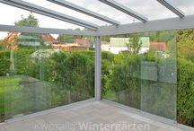 Verglasung von Terrasse