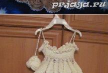 hačkovane šaty pre dievčatá
