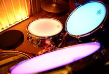 Bespoke LED Colour Change Drum Kit / LED Drum kit lit by Ledridge Lighting LED Ribbon