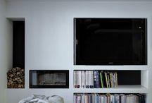 pareti caminetto/TV