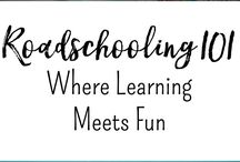 Roadschooling RV Homeschooling / All things for homeschooling while on the road, or RVing.  Perfect for ideas to homeschool on vacation, or homeschool while full-time RVing.  Minimalist Homeschooling techniques and tips.