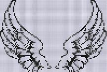 melek -kanat kanavice sablonlari / angel - wings cross stitch crafts